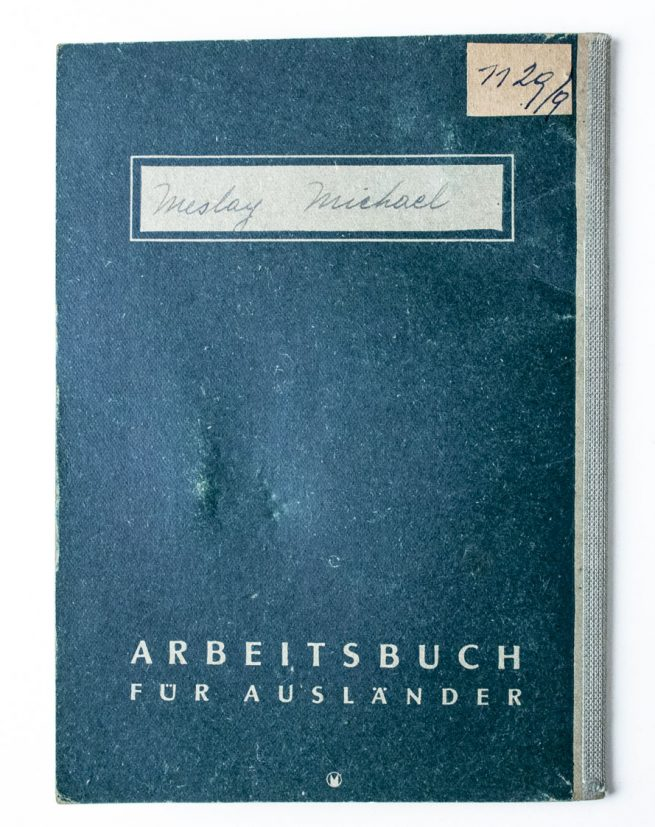 Deutsches Reich Arbeitsbuch für Ausländer