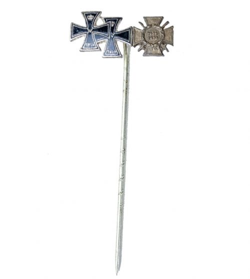 Stickpin with Iron Cross 1st and 2nd class and Frontkämpfer cross