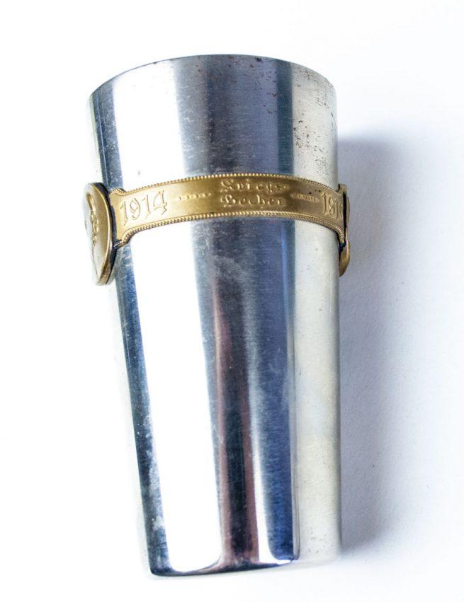 Kriegsbecher 1914 - 1915 im etui - 1