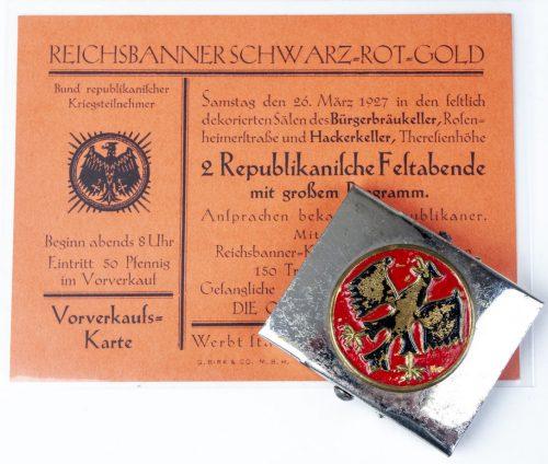 Reichsbanner Schwarz Rot Gold koppelschloss buckle