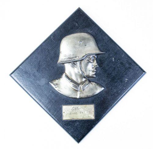Soldaten Wehrmacht plakette plaque wandrelief - 1