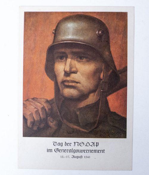 Tag der NSDAP im Generalgouvernement 1941 postcard 1