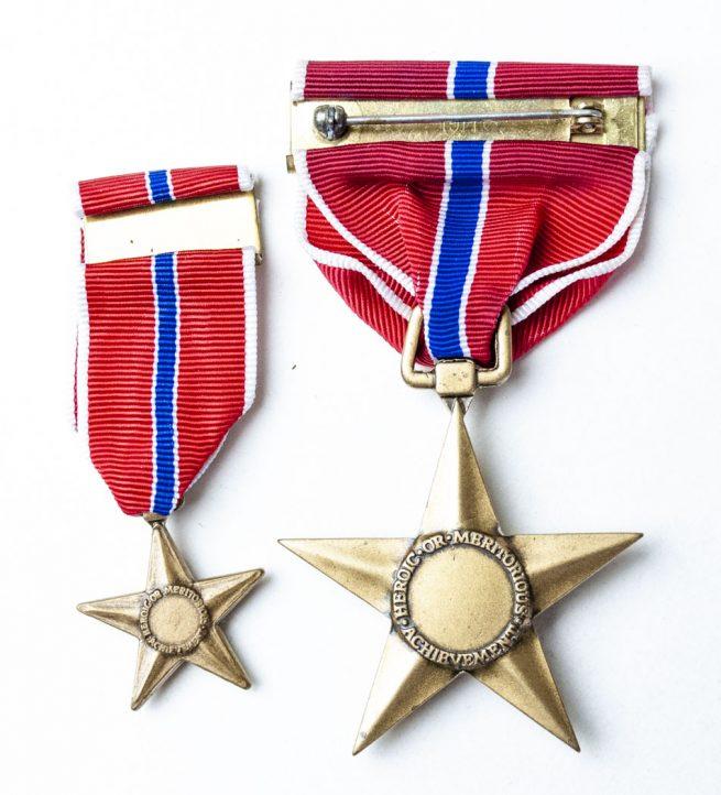 USA Bronze star medal + Miniature