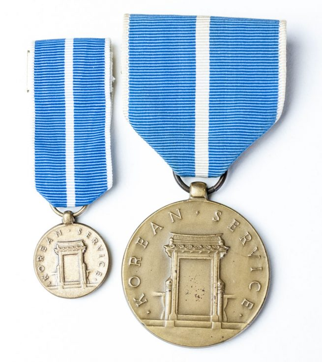 USA Korean Service medal + miniature medaille - 1