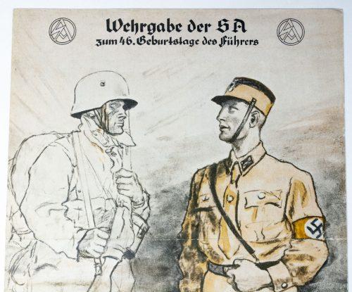 Wehrgabe der Sa zum 46. Geburtstage des Führers