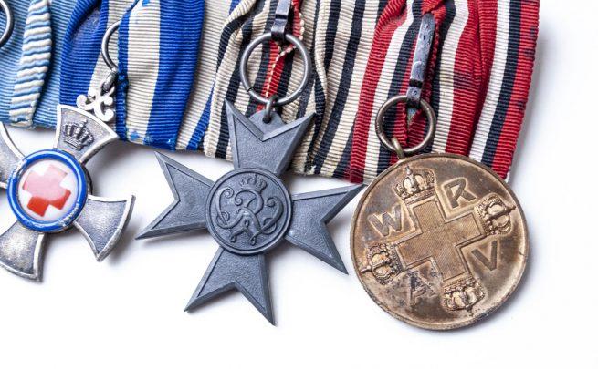 World War I bayern Red Cross medalbar - 1
