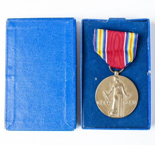 World War II WWII WW2 USA Victory Medal + case 1