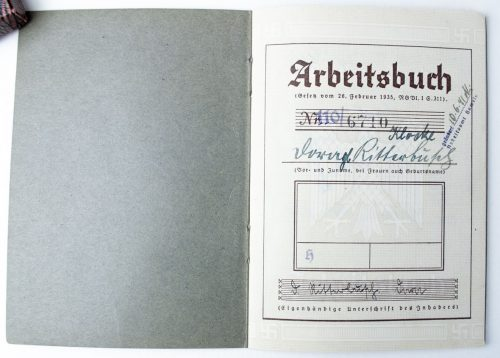 Arbeitsbuch - German workersbooklet - 1