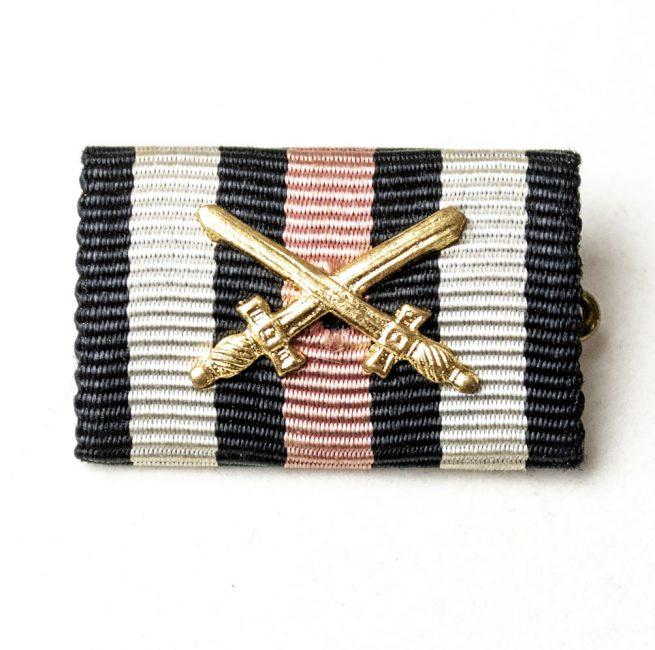 Frontkämpfer Ehrenkreuz with swords single ribbon