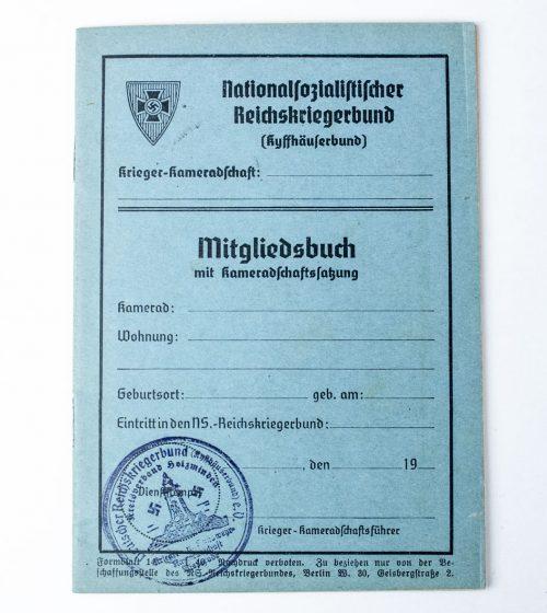 Nationalsozialistischr Reichskriegerbund Kyffhäuser Mitgliedsbuch