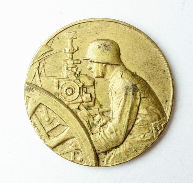 Pak Geschütz Preisrichten 1927 medal in gold (in case) - 1