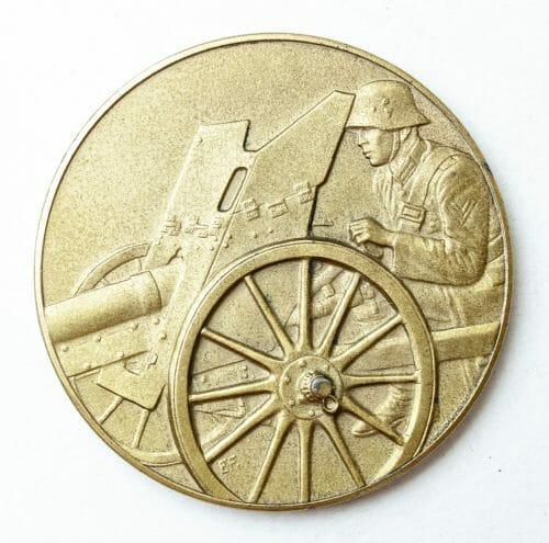 Pak Geschütz Preisschiessen 1936 medal in gold (1. Preis)1