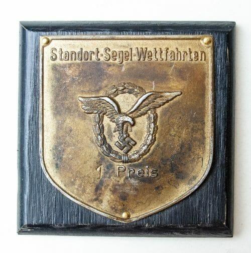 Plaque Standort Segel Wettfahrten 1. Preis (Flugzeugführerabzeichen)