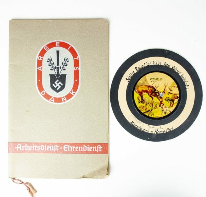 Reichsarbeitsdienst (RAD - Arbeitsdank photoalbum with shooting disc -