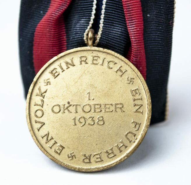 Sudetenland 1938 Annexation medaille Einzelspange (single mount)
