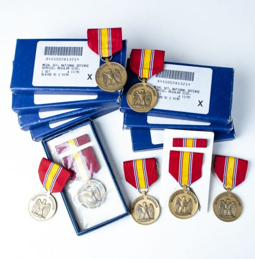USA National Defense service medal + ribbon + case