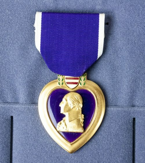 USA Purple Hearth medal in case