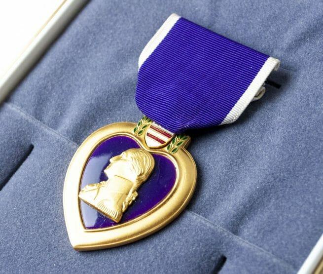 USA Purple Hearth medal in case