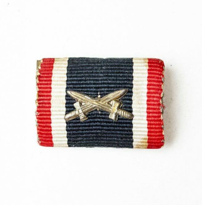 War Merit Cross with swords (Kriegsverdienstkreuz mit Schwerter) ribbon feldspange bandspange
