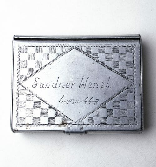 SS privat/prisoner made aluminium (cigarette) case