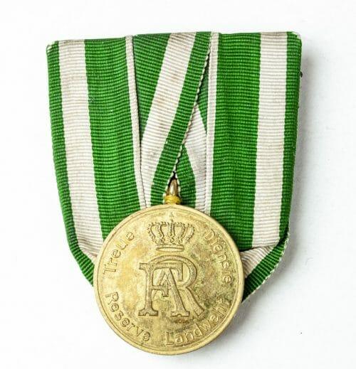 Sachsen Landwehr-Dienstauszeichnung Einzelspange (Saxony Kingdom, Reserve and Territorial Army Service Medal) single mount
