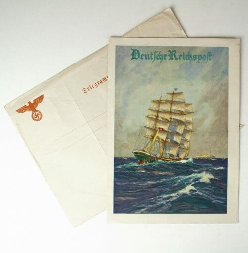 Third Reich - Deutsche Reichspost - Telegram with enveloppe