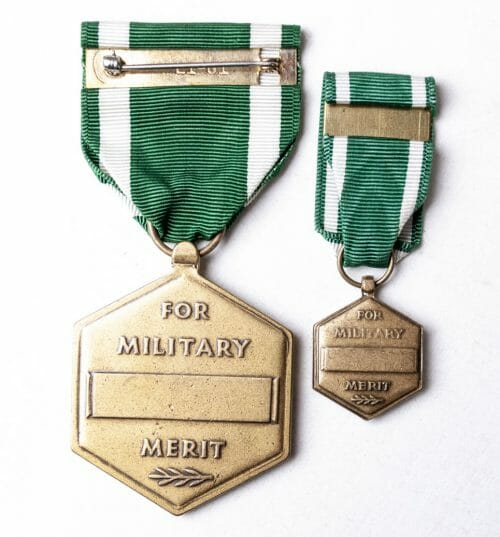 USA For Military Merit Medal + miniature