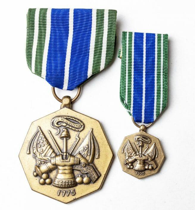 USA Military Achievement Medal + matching miniature