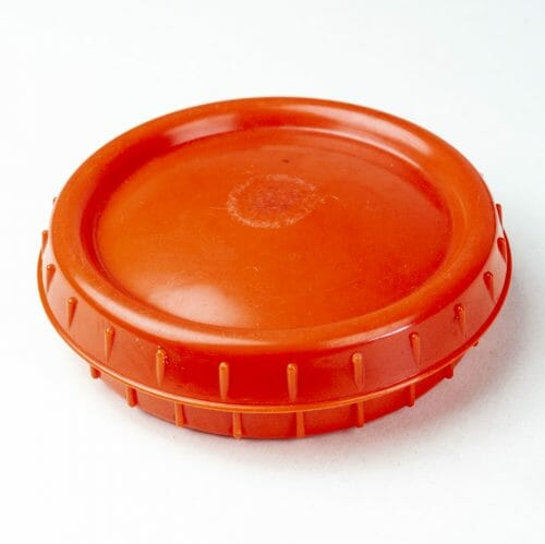 Wehrmacht orange bakelite Butterdish/Fettbuchse