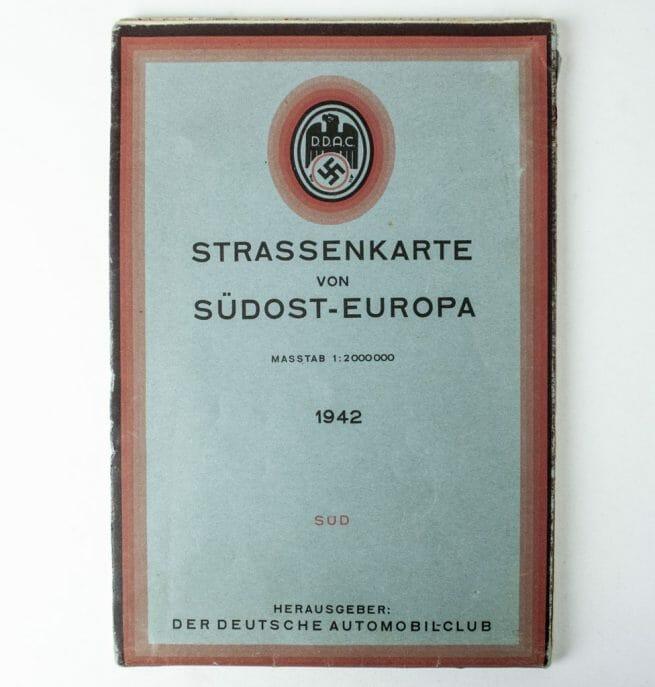 DDAC Strassenkarte von Südost-Europa 1942