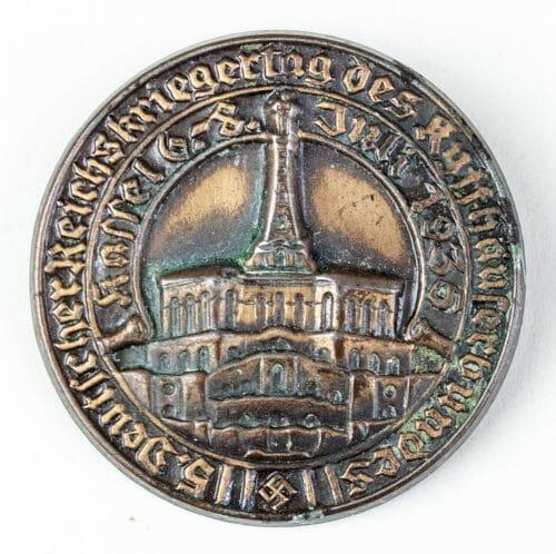Deutscher Reichskriegertag des Kyffhäuserbundes in Kassel 1935 abzeichen