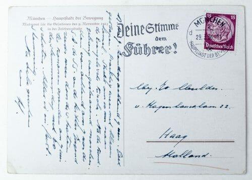 Postcard Feldherrnhalle Mahnmal für die gefallenen des 9. November 1923 in Munich