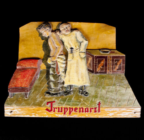 German WW2 Army Truppenarzt wood cut wall decoration.