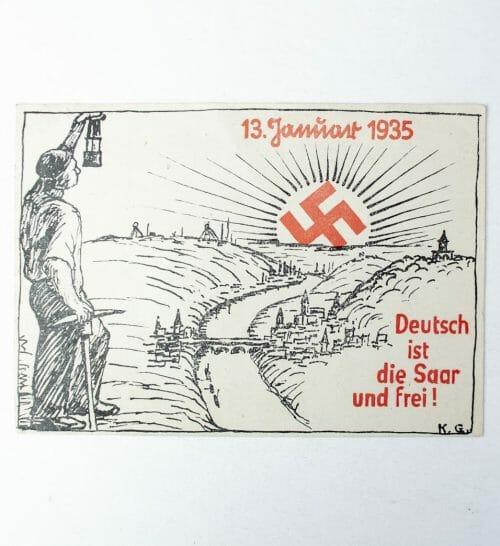 Postcard Deutsch ist die Saar und Frei (1935)