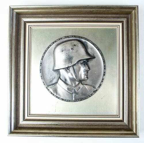 WWII german soldier portrait wall plaque