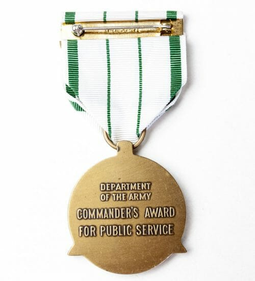 USA Army Commanders Award for Public Service medal