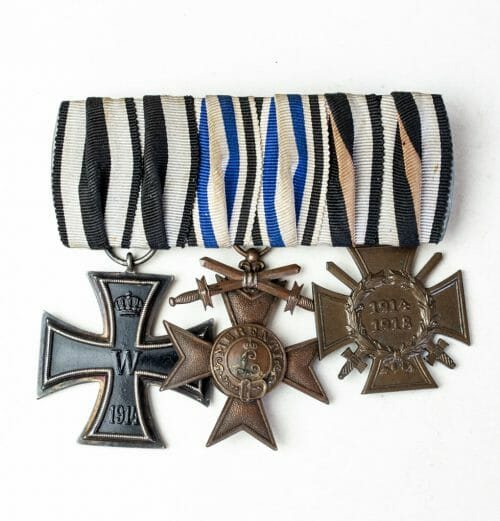 WWI Bavaria/Bayern triple medalbar (ordenspange)