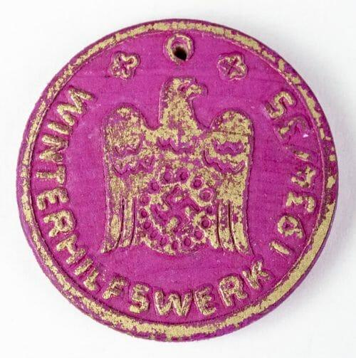 Winterhilfswerk 1934/35 abzeichen (WHW badge)