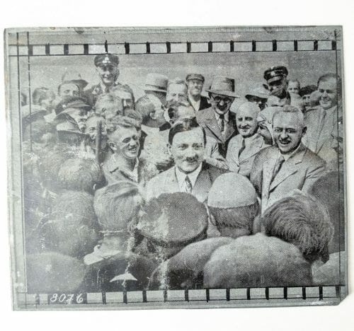 Adolf Hitler original newspaper photo printing plate