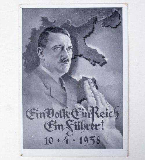 Anschluss Austria 1938 annexation postcard