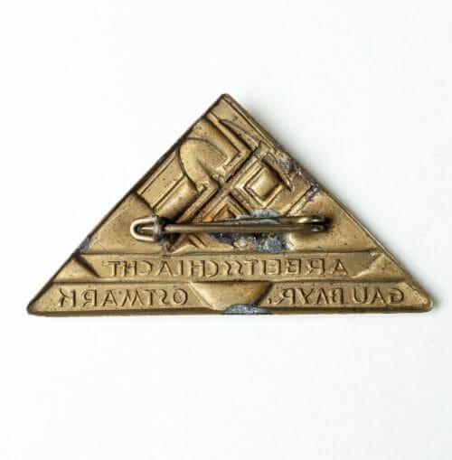 Arbeitsschlacht Gau Bayern Ostmark abzeichen (badge)