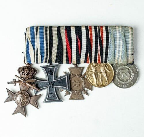 Bayern WWI ordenspange medalbar bavaria 5 medals