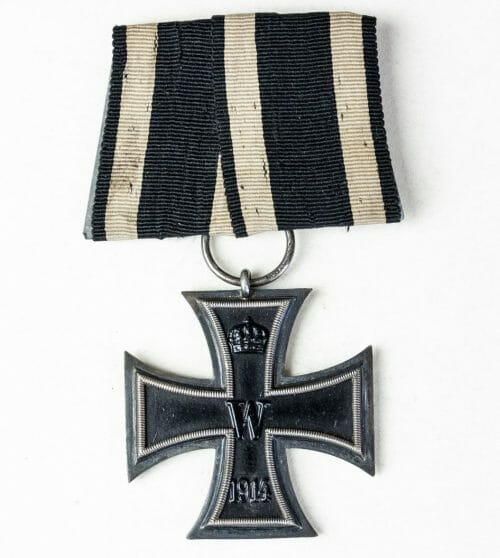 "WWI Iron Cross second class single mount (Ek2 Einzelspange) - Maker marked with ""SW"""