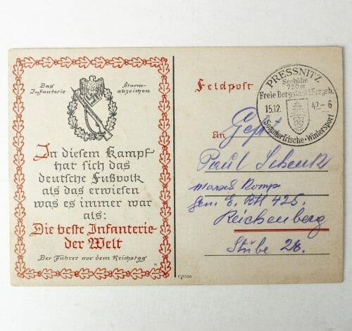 Das Infanterie Sturmabzeichen postcard