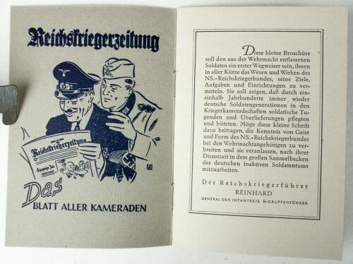 Der NS.-Reichskriegerbund - Was er ist und was er will booklet