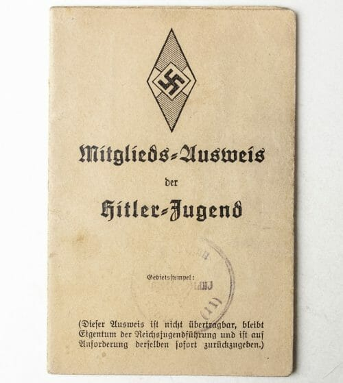 Mitgliedsausweis der Hitlerjugend