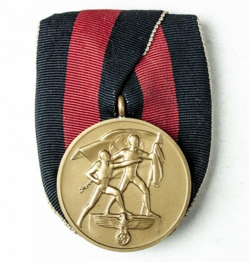 Sudetenland annexation 1938 medaille Einzelspange (single mount)