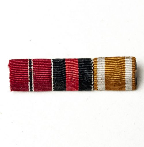 """A """"thin"""" Feldspange /Ribbon with Ostmedaille, Sudetenmedaille and Westwall medaille"""