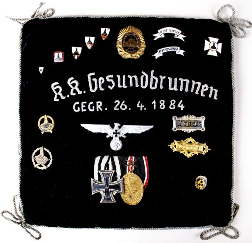 Death pillow of the Kyffhäuserbund Krieger Kameradschaft Gesundbrunnen president Johann Titius