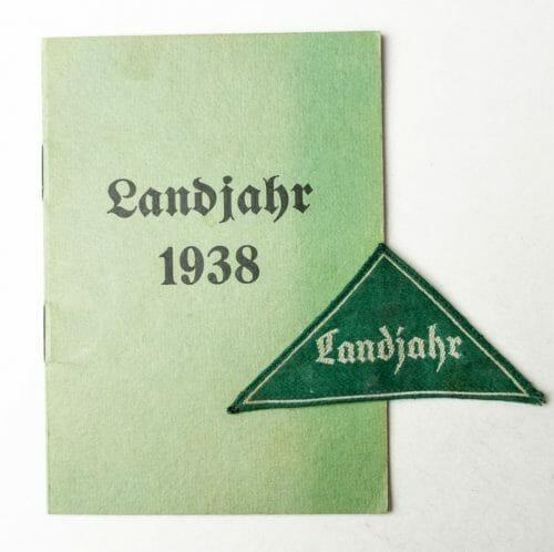 HJ - Hitlerjugend Landjahr ausweis 1938 + ärmelabzeichen